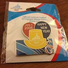 Happy New Year Torino 2006 Olympic Pin