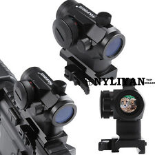 Red/Green Dot Sight Quick Release Airsoft Rifle sight Fit 20mm Rails For Hunting