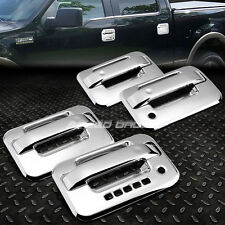 CHROME PLATED SIDE 4-DOOR HANDLE+CODE LOCK PAD COVER TRIM FOR 04-14 FORD F-150
