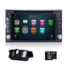 GPS Navigation HD Double 2DIN Car Stereo DVD Player Bluetooth iPod MP3 RDS TV CA