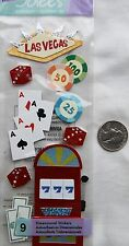 Jolee's stickers Las Vegas casino gamble slot machine cards dice money poker