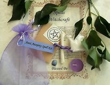 Anti Anxiety Spell Kit  Votive Candle  Magic Wicca Created by a Witch