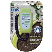RAPITEST DIGITAL PLUS MOISTURE SOIL FLOWER VEGETABLES METER GARDEN PLANT TESTER