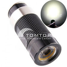 Rechargeable LED Car Cigarette Lighter Socket Mini Flashlight Torch Light Black