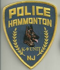 K-9 GHF New Jersey Hammonton police patch police insigne chiens guide