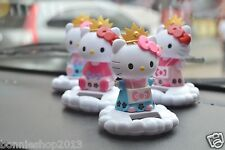 Hello Kitty Cutie Solar Powered Bobblehead Car Desk Decoration Nohohon Zoku