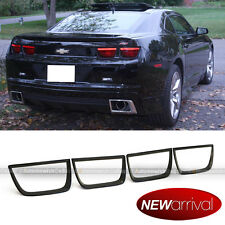 Fit 10-13 Chevy Camaro 4 PCS Black Paintable Tail Light Lamp Trim Cover Bezel