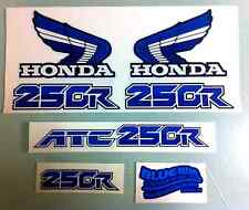 Honda ATC250R 1986 Number Plate Decals Stickers White and Blue 250R ATC