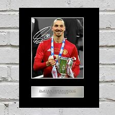 Zlatan Ibrahimovic Signed Mounted Photo Display EFL Cup Winner Manchester United