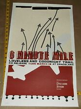 6 Minute Mile Loveless Goodnight concert poster Jeff Kleinsmith Sub Pop signed