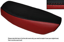 DARK RED & BLACK CUSTOM FITS YAMAHA FS1 E DUAL LEATHER SEAT COVER