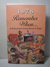 39th Birthday / Anniversary - 1978 Remember When Nostalgic Book Card  - NEW