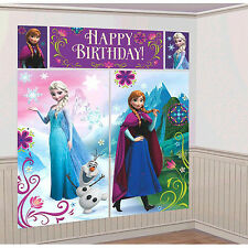 Disney Frozen Scene Setter Happy Birthday Wall Banner Decoration Party Supplies