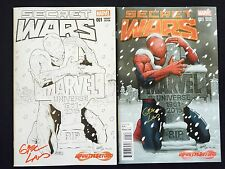 SECRET WARS #1 INFINITY & BEYOND EXXLUSIVE VARIANT SET SIGNED BY GREG LAND