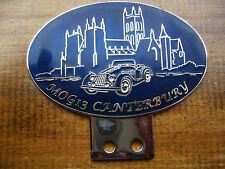 MORGAN MOG 2013 CANTERBURY CHROME ENAMEL CATHEDRAL BADGE 2/4 4/4 PLUS FOUR