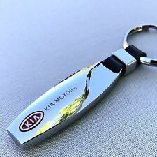 NEW KIA LOGO METAL CHROME KEYCHAIN KEY-CHAIN Key Ring KC022