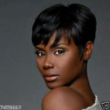 Spiffy Short Black Synthetic Fashion Natural Straight Women's Capless Wig Hair