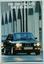 BMW 5 Series Sales Brochure - February 1987 includes M535i