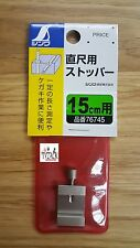 Shinwa Ruler Stop 76745 Save Time With Repeat Measurements for 15mm Wide Rulers