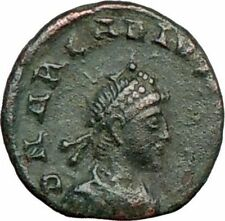 ARCADIUS 395AD  Authentic Ancient Roman Coin VICTORY NIKE Trophy  i23620