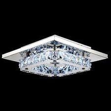 Modern Crystal LED Ceiling Light Flush Mount Lamp Fixture Lighting Chandelier US