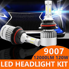 120W 12000LM LED HEADLIGHT Kit COB 9007 Hi&low Beams 6000K HID Pair Bulb PHILIPS