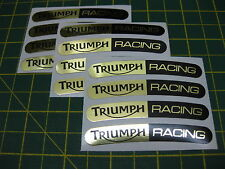 12 Triumph Racing Wheel Rim Stickers Mirror Gold & Black