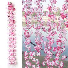 Ghirlanda Finti Fiori Azalea Artificiale 2mt Rosa Decora Casa Giardino Ufficio