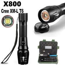 8000LM G700 CREE XML T6 LED Tactical Flashlight Torch+18650 Battery + Case 5NEW