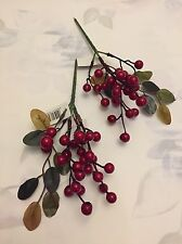 2x Berry Picks Sprays Stem Wreath Red Berries Christmas Craft Clearance Sale