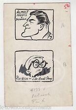 FRANCES X. BUSHMAN & ARNOLD STANG ORIGINAL CARTOONIST SIGNED INK DRAWING SKETCHE