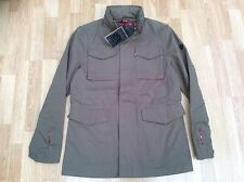 MENS MERC LONDON MILITARY FASHION JACKET STYLE BAKER KHAKI SIZE M