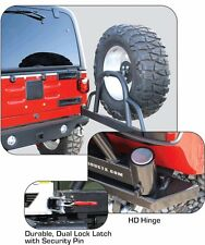 Rampage Recovery Bumper w/ Hitch, Tire Carrier & D-Rings 1976-2006 Jeep Wrangler