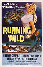 RUNNING WILD Movie POSTER 27x40 William Campbell Mamie Van Doren Keenan Wynn