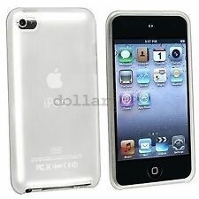 WHITE iPod Touch iTouch 4 4th Gen Colorful Silicone Rubber Skin Gel Cover Case