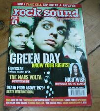 GREEN DAY Fightstar Judas Priest Mars Volta Nightwish ROCK SOUND magazine No.70