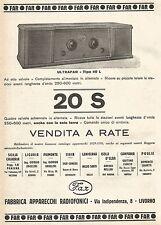 W7853 Radio ULTRAFAR Tipo 40 L a 8 valvole - Pubblicità del 1929 - Old advert
