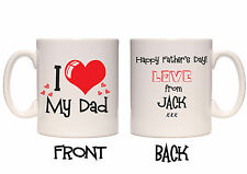 I LOVE DAD/DADDY/GRANDAD MUG - FULLY PERSONALISED - FATHER'S DAY / BIRTHDAY GIFT