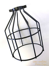 Vintage Edison Dome Cage Metal Wire Hanging Lamp Shade Pendant Light Chandelier