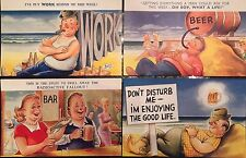 BAMFORTH SEASIDE COMIC SERIES POSTCARDS Pack No 7