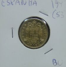650# SPANIEN SPAIN - 1 PESETA 1947 (53) KM#775 RARE IN THIS GRADE