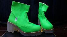 Buffalo Women Nylon NEON Color Platform Boots Shoes Size US 7/EU 38 New with Box