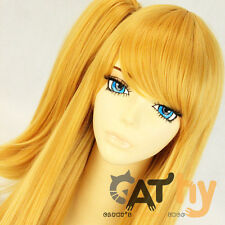 Fairy Tail Lucy Heartfilia Anime Long Golden yellow Cosplay Wig + free wig cap