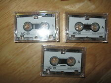 MICRO CASSETTES BRAND-NEW CASED X 3 BARGAIN PRICE