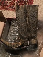 "OLD GRINGO Western Cowboy Black Leather Boots Razz 13"" Size 10"