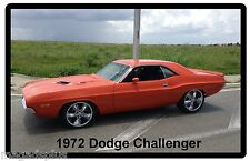 1972 Dodge Challenger Orange Refrigerator / Tool Box Magnet Gift Item