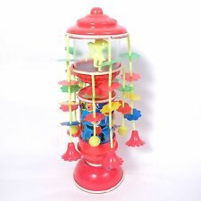 70s Clockwork Wind Up Toy Vintage Musical Celluloid Carousel Merry Go Round Rare
