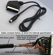 RGB Scart Lead for Sega MegaDrive 2 Games Console (quality screened cable) NEW