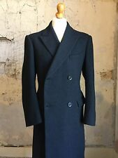 Vintage wool and cashmere overcoat navy blue size 46 48