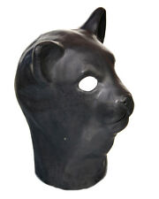 Black Latex Cat Mask Fetish Fancy Dress Halloween Gimp Bondage Feline Stag Night